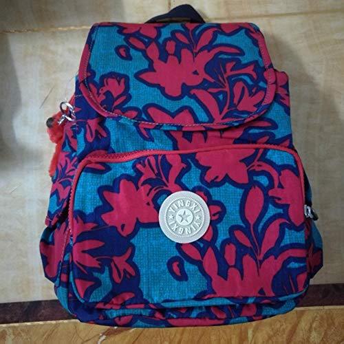 SAMJGF Leisure Backpack Nylon Waterproof Multicolor Flower Cloth Backpack Student Backpack Monkey Casual Backpack, Rainbow
