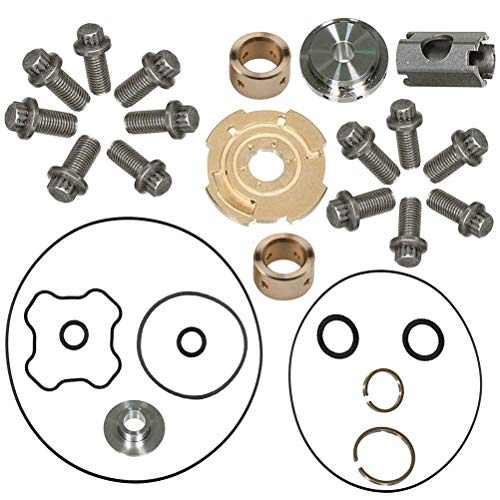 TOPEMAI 7.3L Powerstroke Turbo Upgraded 360°Thrust Rebuild Kit Compatible for 1994-2003 Ford Garrett GTP38 TP38 Replacement 817-1004-002F by TOPEMAI
