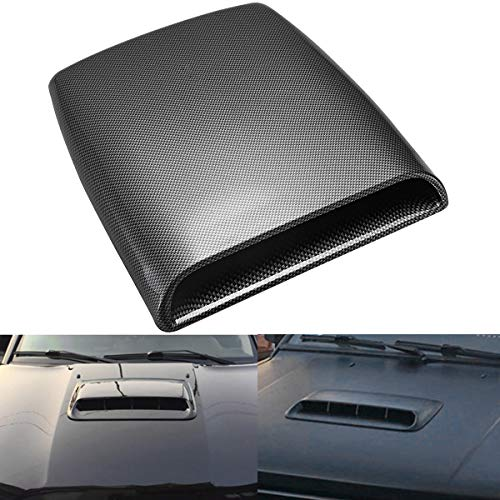 KaTur Universal Car Decorative Air Flow Intake Hood Scoop Vent Turbo Bonnet Cover Carbon Friber