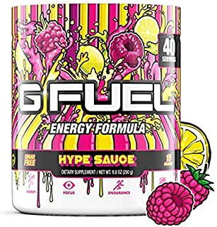 G Fuel Hype Sauce (40 Servings) Elite Energy and Endurance Formula 9.8 oz.