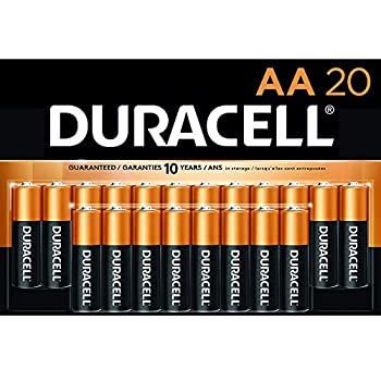 Duracell - CopperTop AA Alkaline Batteries - Long Lasting All-Purpose Double A battery for Household and Business - 20 Count