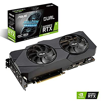 ASUS GeForce RTX 2080 Super Overclocked 8G GDDR6 Dual-Fan EVO V2 Edition VR Ready HDMI DisplayPort 1.4 Graphics Card
