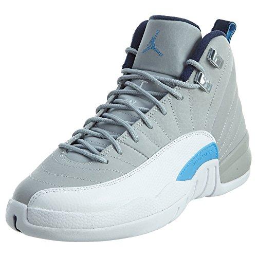 Nike Air Jordan Retro 12 153265-007 Sportschuhe-Basketball, Gris (Wlf Gry / Unvrsty Bl-White-Mid N), 38 1/2 EU