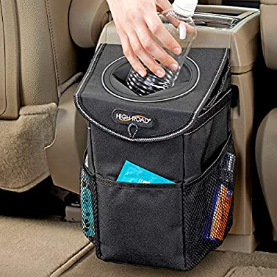 High Road StashAway Console and Headrest Car Trash Can with Lid by Talus