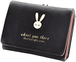 小さい財布 がま口付き カワイイ コンパクト ウォレット  母の日プレゼント ウサギ カード小銭入れ  金運アップ 女性用 友達  家族にプレゼント 多機能  シンプル  上品  優雅 パープル ピンク ブルー レッド ブラック
