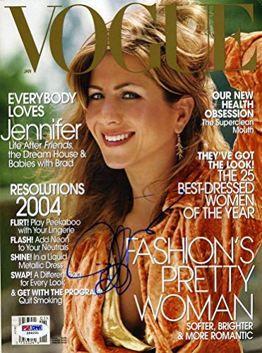 Jennifer Aniston Signed Vogue Magazine Certified Authentic PSA/DNA COA