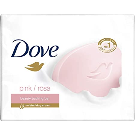 Dove Pink Rosa Beauty Bathing Bar With ¼ Moisturizing Cream To Give You Softer, Smoother Skin, 3X100 g