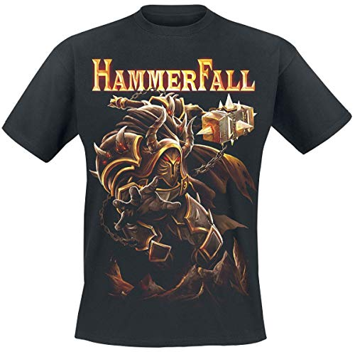 Hammer Fall One Against The World T-Shirt schwarz L