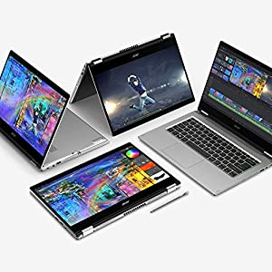 """Acer Spin 3 Convertible Laptop, 14"""" Full HD IPS Touch, 10th Gen Intel Core i5-1035G4, 8GB LPDDR4, 512GB NVMe SSD, WiFi 6, Backlit KB, Fingerprint Reader, Rechargeable Active Stylus, SP314-54N-50W3"""