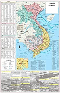 Cool Owl Maps Vietnam War Conflict Wall Map Poster Military - 24
