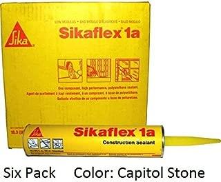Sika, Sikaflex 1A, One Part Polyurethane Caulk, 10.3 Fl Oz, Color: Capitol Tan, Six Pack