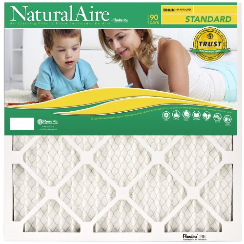 Flanders PrecisionAire 84858.011020 10 by 20 by 1 NaturalAire Standard Pleat Air Filter, 12-Pack