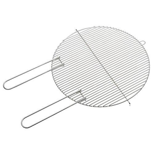 Barbecook Grillrost rund mit Haltegriffen 50 cm für Holzkohlegrill verchromt leicht zu reinigen