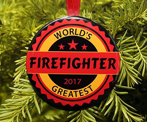 None-brands Adorno navideño de Navidad 2020 con diseño de bombero más grande...