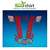 Ecoshirt EO-YFHE-YSSO Pegatinas Stickers Fork Rock Shox SID 2018 Am179 Aufkleber Decals Autocollants Adesivi Forcela, Rojo