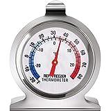 Termómetro de Refrigerador y Congelador Termómetro de Esfera Grande de Serie Clásica Termómetro de Temperatura para Congelador Nevera Frigorífico Enfriador (1 Pieza)