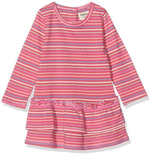 Hatley Layered Dress Vestido, Rosa (Rainbow Candy 650), 3-6 Meses (Talla del Fabricante: 3M-6M) para Bebés