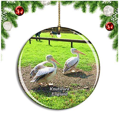 Weekino Knuts Gauntlet Greifvögel Großbritannien England Christbaumkugel Hängender Weihnachtsbaum Anhänger Dekor Travel Souvenir Collection Porzellan 2,85 Zoll