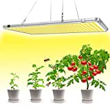 Bozily Lampada per Piante LED, Spettro Completo Simile al Sole, Lampada per La Crescita delle Piante 300W, Nessun Rumore, per varietà di Piante da Interno in Crescita, 338 LED, 56x30x1,8 cm