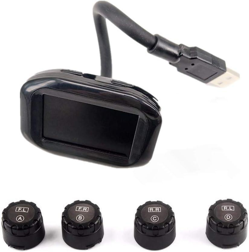 GZCRDZ Car USB Rapid rise TPMS Tire Pressure Monitor with Omaha Mall System Alarm Kit
