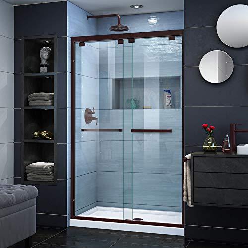 DreamLine Encore 44-48 in. W x 76 in. H Semi-Frameless Bypass Shower Door in Oil Rubbed Bronze, SHDR-1648760-06