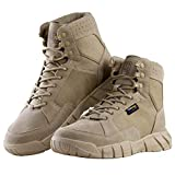 FREE SOLDIER Waterproof Hiking Work Boots Men's Tactical Boots 6 Inches Lightweight Military Boots Breathable Desert Boots (Tan, 12