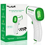 KLAUE Digital Infrared Forehead Thermometer Gun (MAKE IN INDIA) for Fever, Body Temperature (Non Contact). Best for Adults, Baby, Kids. FDA, CE, ROHS, ISO, IAF Certified