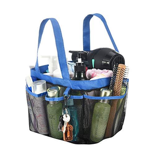 Product Image of the Haundry Mesh Shower Caddy Tote, Large College Dorm Bathroom Caddy Organizer with...
