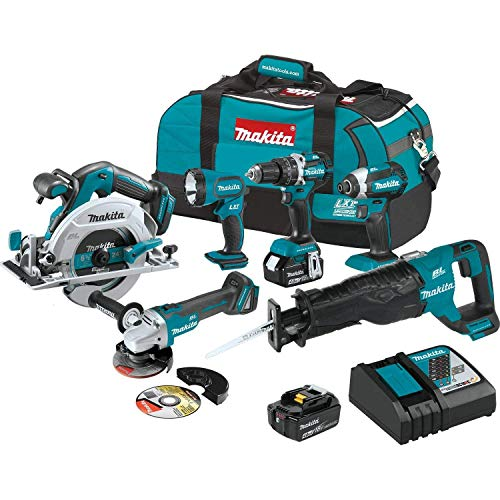 MAKITA XT612M 18V LXT 18-Volt Lithium-Ion Brushless Cordless 6-Pc Tool Combo Kit (Renewed)