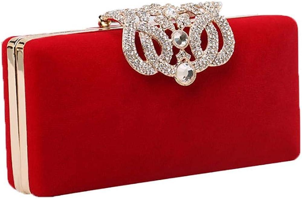 Elegant Clutch Bag for Women Rhinestone Clutches Purse Evening Box Clutch Evening Bag for Prom Wedding Cocktail Party
