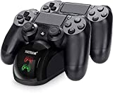 Y Team PS-4 Controller Charger, Dual USB PS-4 Controller Charging Station for Sony Pstation 4/PS-4/ Slim/ PS-4 Pro Charging Dock Stand Station