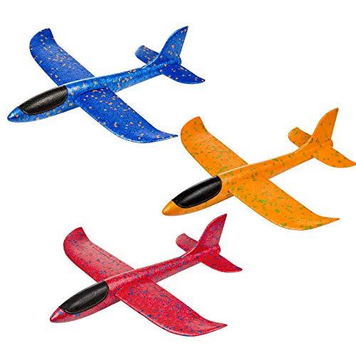 Comius Sharp Planos de Espuma, 3 Pcs Avión Planeador, Modelo de Avion Deportes al Aire Libre Volar Juguete, Que lanzan los planeadores de Whirly Glider para los Cabritos, favores de la Fiesta