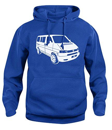 Herren Damen Kapuzenpullover VW T4 Campervan Camper Retro Van Hoody Sweatshirt Neu XS-XXL Gr. L, königsblau
