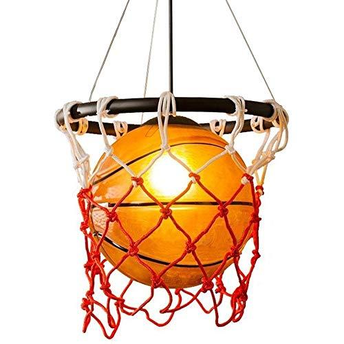 Lqp-diada Baloncesto de la lámpara personalizada, pantalla de cristal de la lámpara, Sala Boy Dormitorio marco del art déco Baloncesto decoración de la lámpara, utilizado for la decoración del techo d