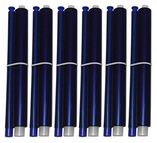 6-Pack of KX-FA91 Fax Film Ribbon Refill Rolls for Use in Panasonic KX-FP205 KX-FP215 KX-FP215E KX-FP225 KX-FG2425 KX-FG2451 KX-FG2452 KX-FG2858