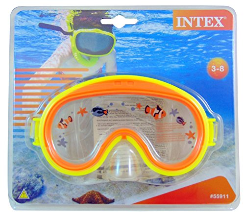 Intex Tauchermaske Mini Aviator 2 Farben Phthalates-Free, 55911