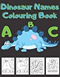 Dinosaur Name Colouring Book A B C: Coloring Book For Kids And Adults Anti Stress Make Perfec Gift For Your Kids+ Game Checkers Develo Your Mind