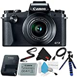 Canon PowerShot G1 X Mark III Digital Camera #2208C001 International Version (No Warranty) + Deluxe Cleaning Kit + Micro HDMI Cable + Flexible Tripod + Microfiber Cloth Bundle