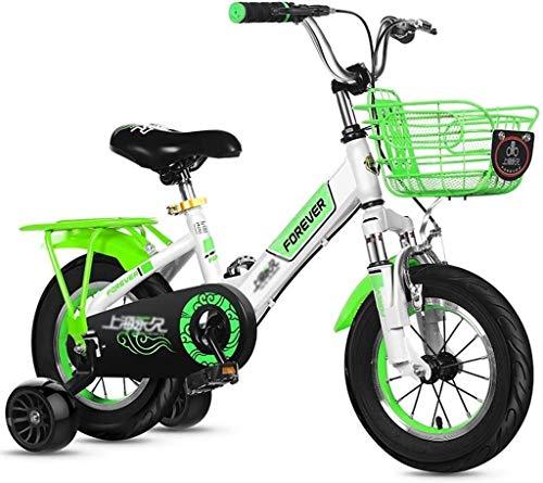 Bicicletas pedal de niños al aire libre Triciclo Niños Bici de montaña de la bicicleta de Niza Adecuado for niños y niñas (Color : Green)