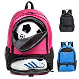 Tindecokin Girls Soccer Bag - Youth Soccer Backpack Football & Basketball & Volleyball Training Package … backpack for air Mar, 2021