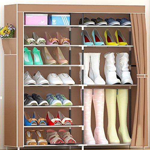 Chaussure Ensemble de Moderne et Moderne Multiples Ensemble de tablettes Accueil Cabinet de Rangement économique (Couleur : Brown)