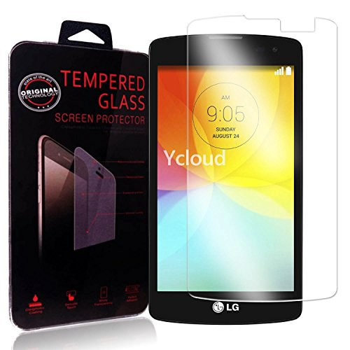 Ycloud Panzerglas Folie Schutzfolie Bildschirmschutzfolie für LG L Fino (4.5Zoll) screen protector mit Festigkeitgrad 9H, 0,26mm Ultra-Dünn, Abger&ete Kanten