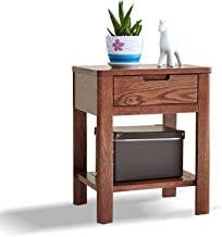 MEI XU Nightstand Bedside Table,with Drawer and partition Storage Bedside Table Simple and eco-Friendly Bedroom Furniture ...