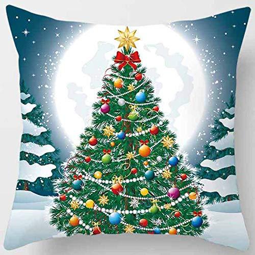 2 Fodere Per Cuscino, Fiocco Di Neve Di Babbo Natale 45 * 45 Cm 59,Vita Quadrata Fodera Per Cuscini Per Divano Da Casa Per Ufficio Divano Con Cerniera Nascosta