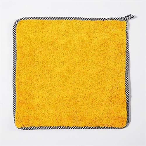 1 unid casero lavado plato cocina anti-grasa limpiando trapos eficiente súper absorbente microfibra limpieza paño cocina limpieza toalla (Color : Yellow)