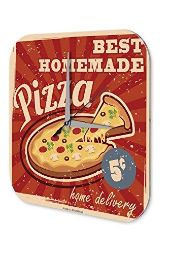 Orologio da parete Alimentare Ristorante pizza fatta in casa Plexiglas