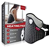 Heating Pad for Back Pain Relief, Comfytemp Electric Heated Waist Wrap for Lower Back with Adjustable Strap, 3 Heat Settings, 2H Auto-Off, Moist Heat Therapy for Lumbar Cramps Fit 33' to 59'