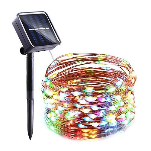 Ghirlande Luci solari per esterni, EC Technology Luci solari per esterni a LED Garden 27M 250 LED 8 modalità String Lights Decorazione per Natale, Terrazza, Feste, Matrimoni, Patio