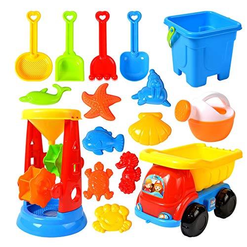 Juguete de Playa Niños,Juegos Playa Bebes Set de Juguetes de Arena, Juego de juguetes de playa para niños Juego de arena de juguete de playa para bebés Rastrillo de pala