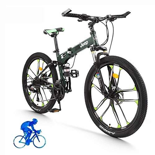 Bicicletas 26 pulgadas Bicicleta de montaña Ligera Ligera Plegable Bicicletas Estudiante Portátil Compacto Ciudad Ciudad Bicicleta Adultos Mujer Bicicletas Ciclo de carretera MTB Trail Bicicleta (Colo
